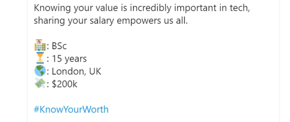 Cover image for #KnowYourWorth - Are you really being valued?
