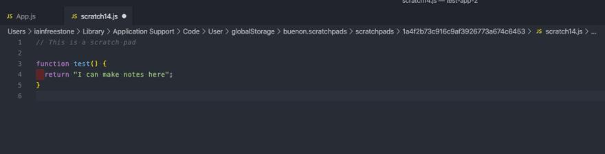 Scratchpads