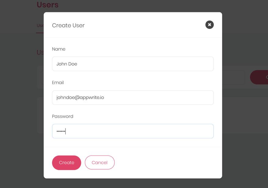 Create User Dialog