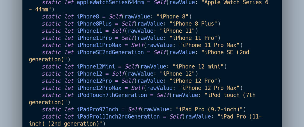 Cover image for Creating a MacOS  command line tool to dynamically generate PreviewDevice devices for SwiftUI