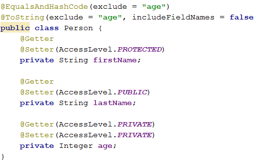 Custom hashcode and toString