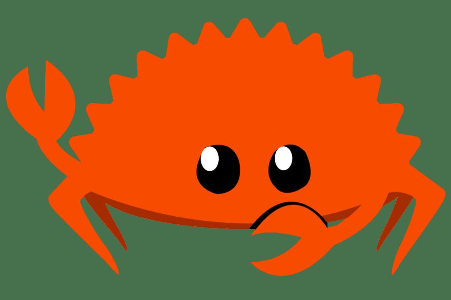 Gesturing Ferris, unofficial mascot of Rust