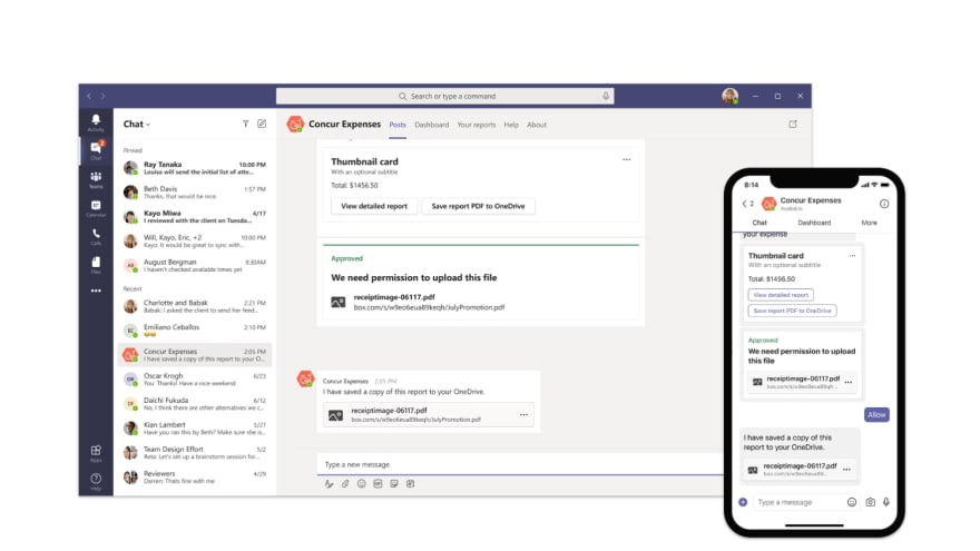 Custom bot integrated in Microsoft Teams