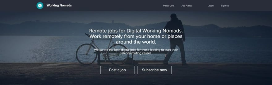 Working Nomads website