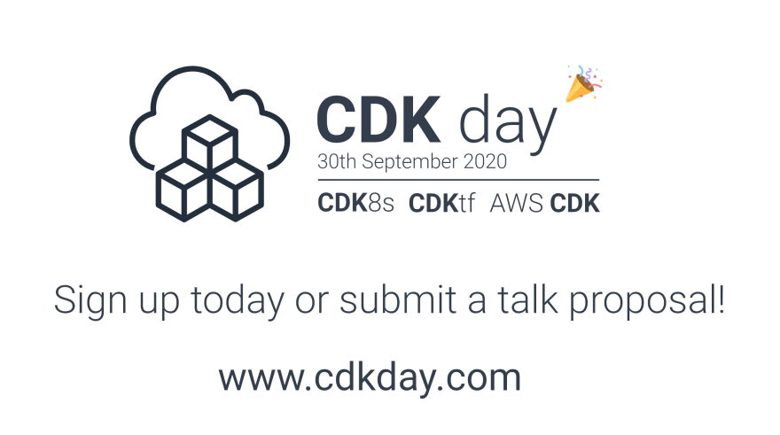 CDK Day is coming 30th September, sign up now or submit a talk proposal