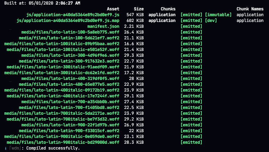 webpack-dev-server logs