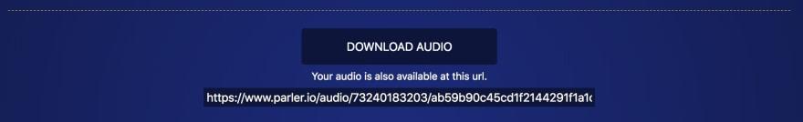 parler.io audio download link