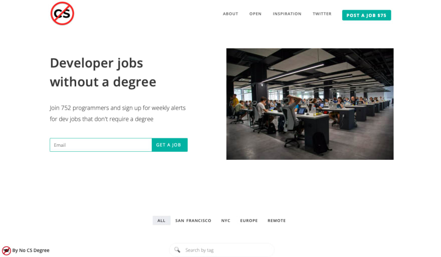 Being a location-independent developer without a CS degree
