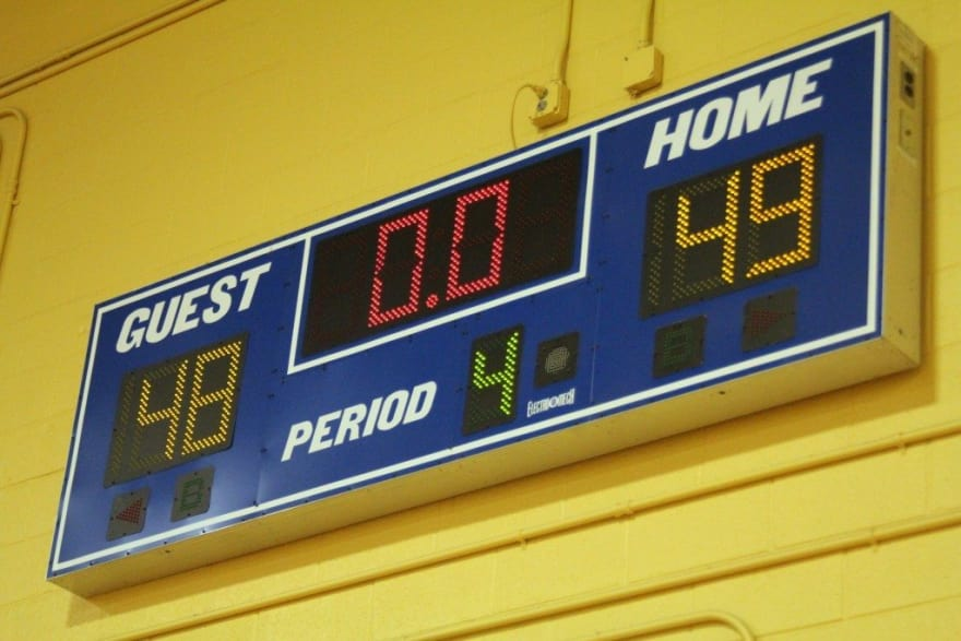 scoreboard on the wall