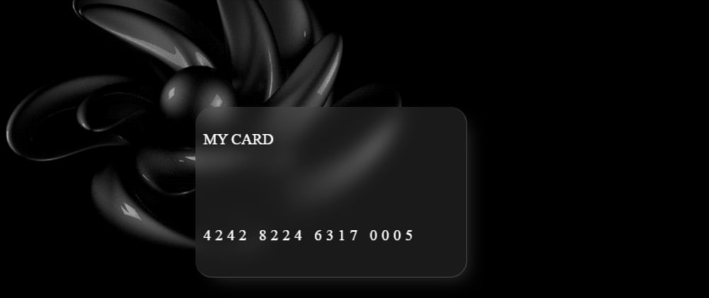 Cover image for Glassmorphism Card with CSS