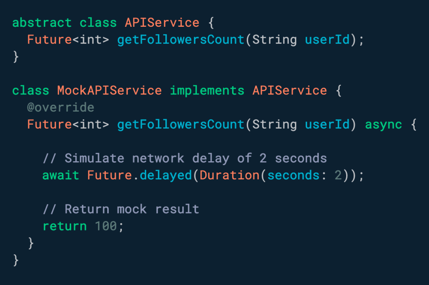 Want to force a delay before executing some code? Use Future.delayed