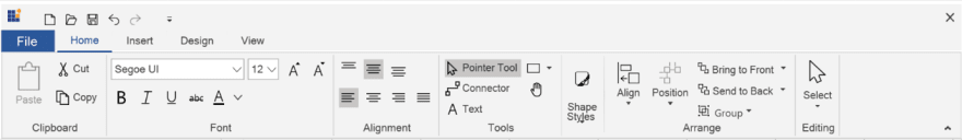 Adding Ribbon UI to WPF Diagram Control