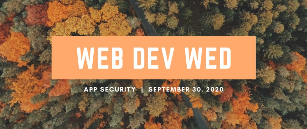 Cover image for Web Dev Wednesday: App Security