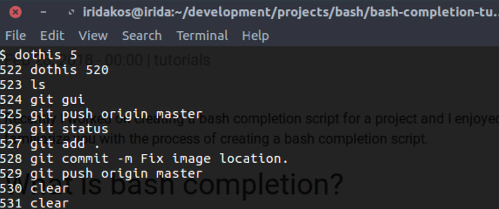 Cover image for How to add bash completion to your scripts