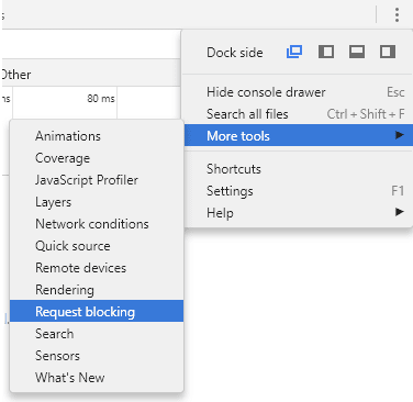 request blocking menu