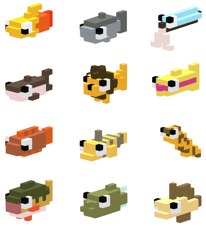 so many voxel fishes
