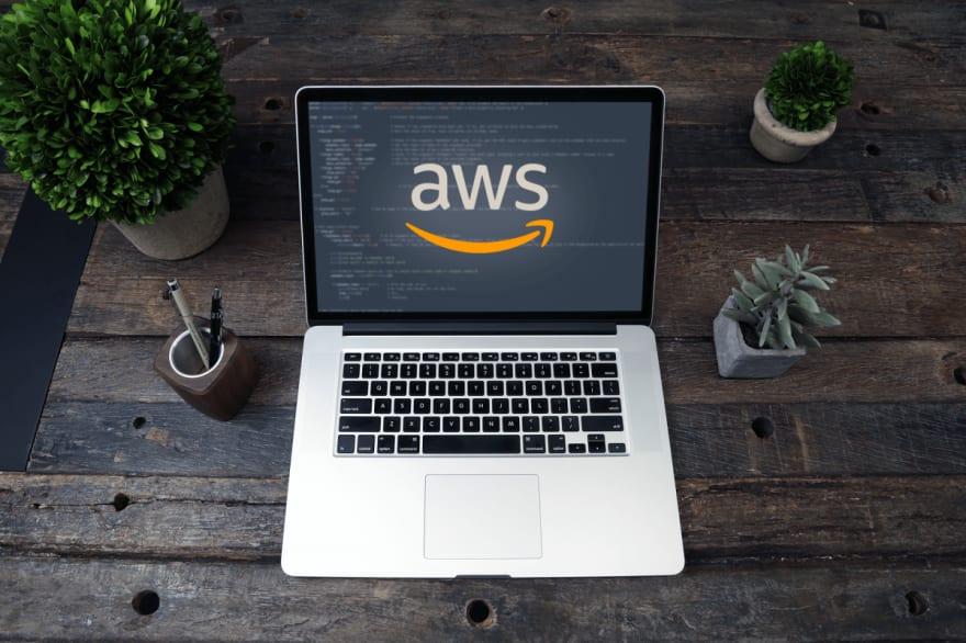 Laptop With AWS Logo