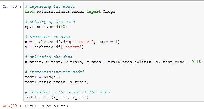 using the ridge estimator