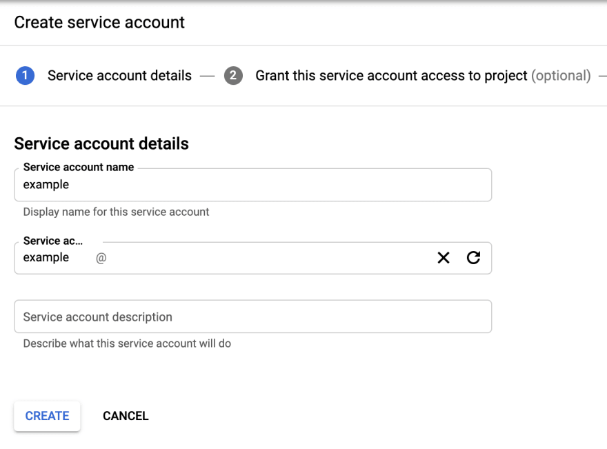 Service Account name