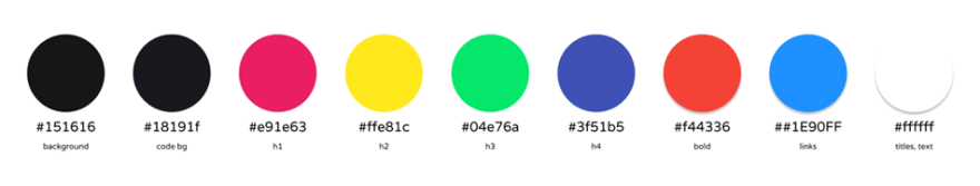 Content Color Scheme