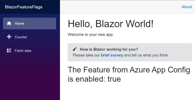Blazor App Home Page