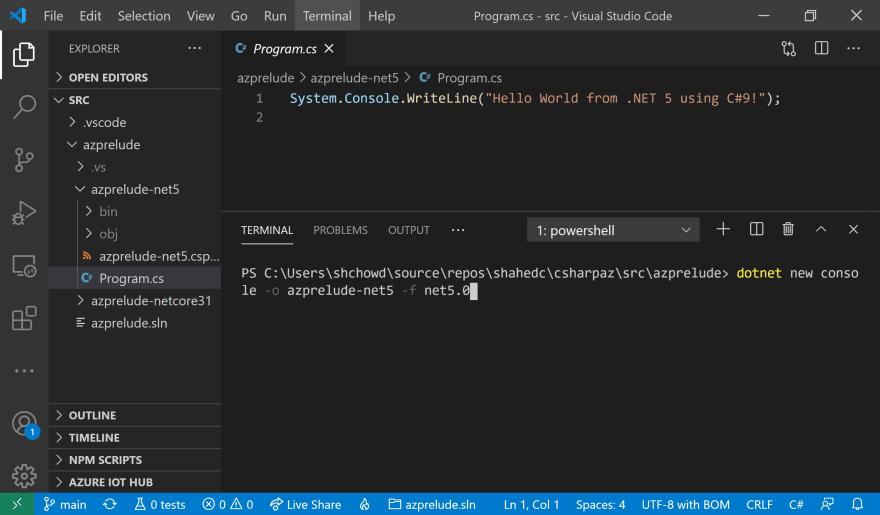 VS Code Terminal
