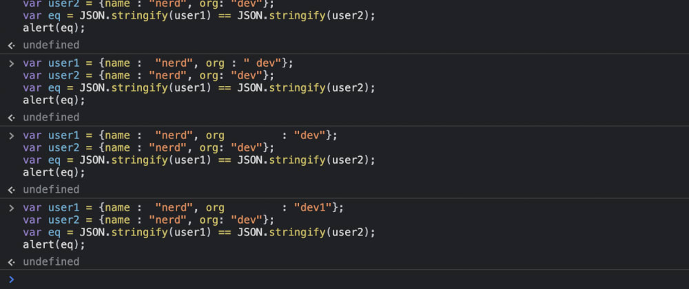 Cover image for Compare objects in JS
