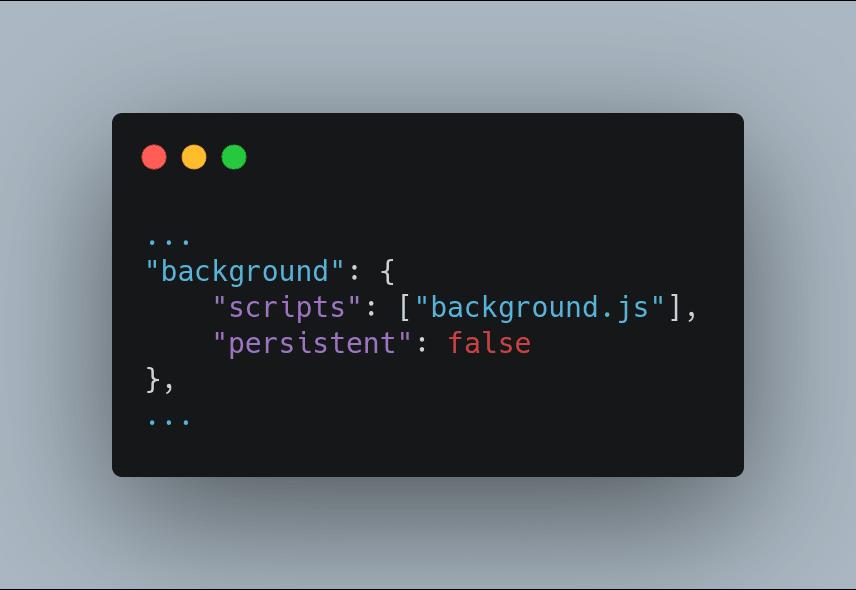 background.js on manifest.json!