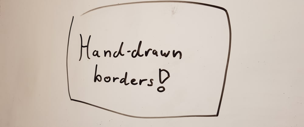 Cover image for 📋✍️ Hand-drawn border animation using clip-path and border-radius