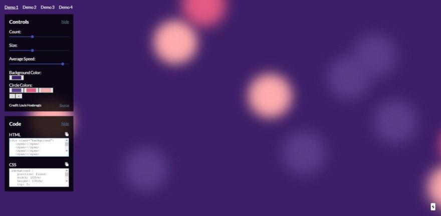 Animated CSS Background Generator
