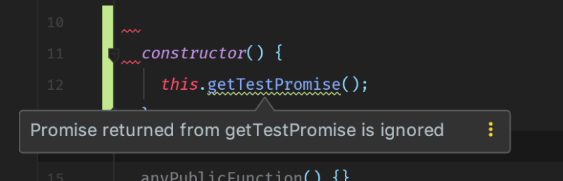 VS Code Unresolved Promise