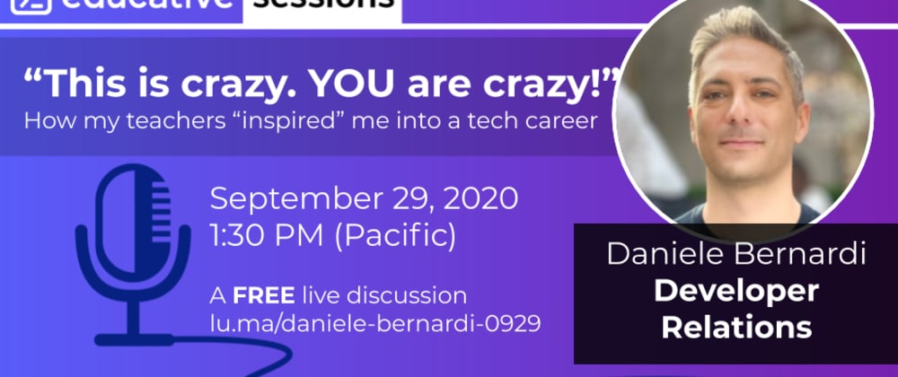 """Cover image for """"That is crazy. YOU are crazy!"""" with Daniele Bernardi of Twitter"""