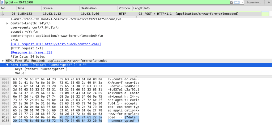 HTTP Packet Trace
