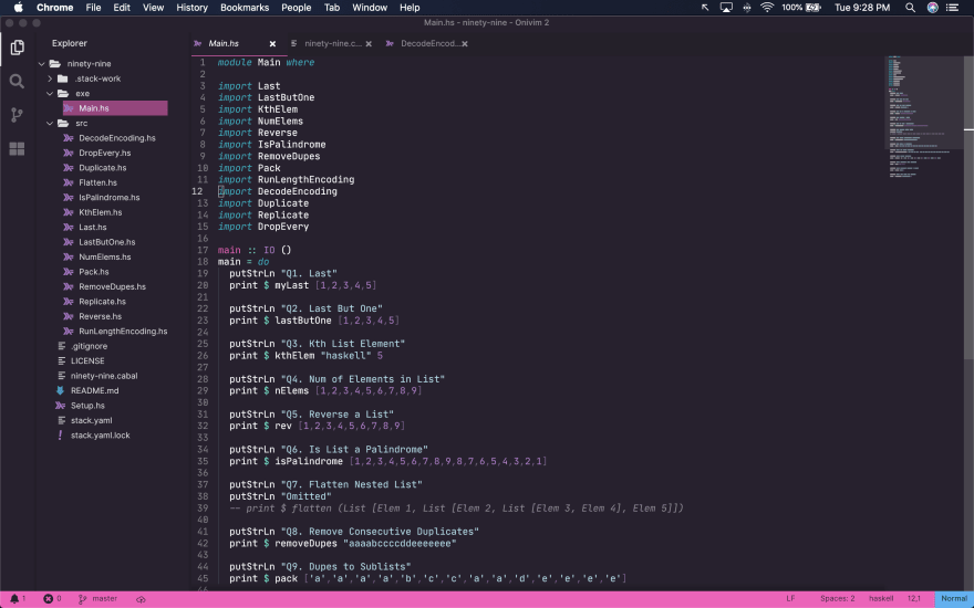 OniVim's design is clearly inspired by VSCode