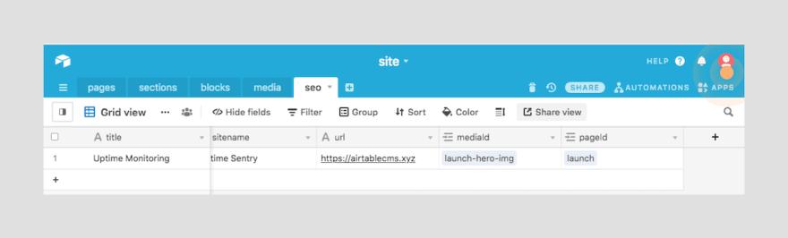 Generate API Key Step 1