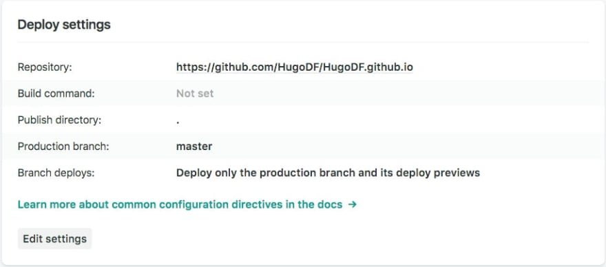 Example config to deploy a GitHub Pages site from GitHub to Netlify