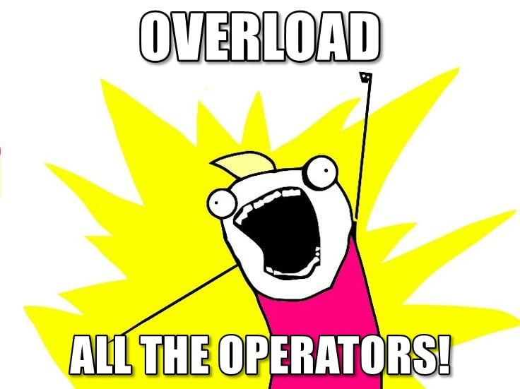 """Overload all the operators"" meme"