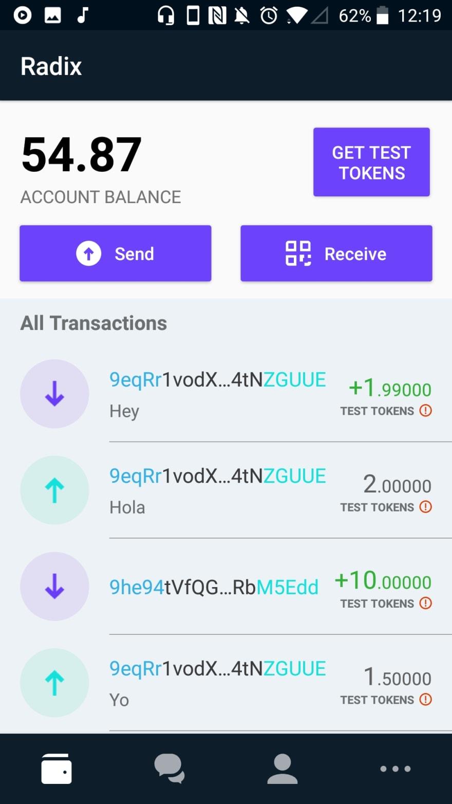 Radix DLT - Android wallet - DEV Community 👩 💻👨 💻