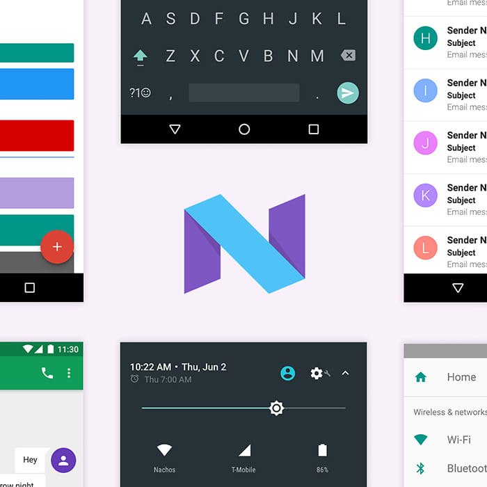 Android Nougat UI