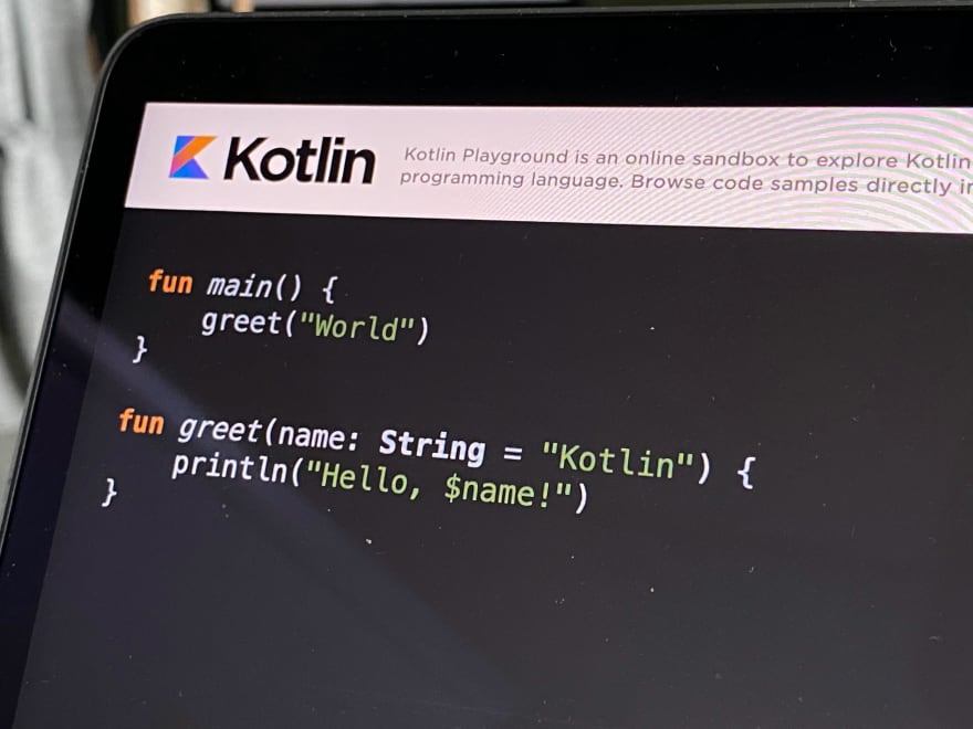Kotlin on a laptop