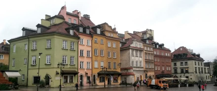 Warsaw on a rainy November afternoon