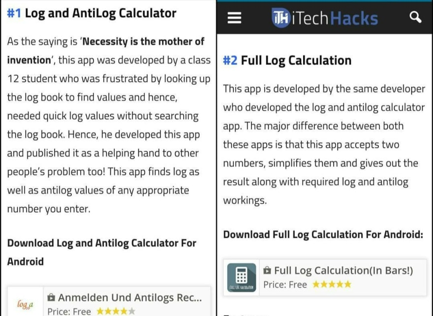 LogCalc featured on blog