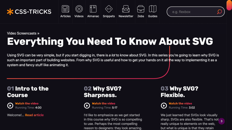 CSS Tricks - Everything You Need To Know About SVGs