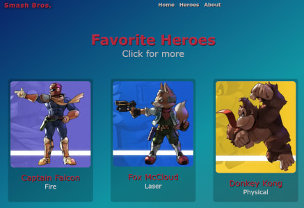 Heroes Page