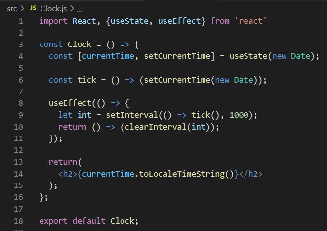 Function-Based Clock Component
