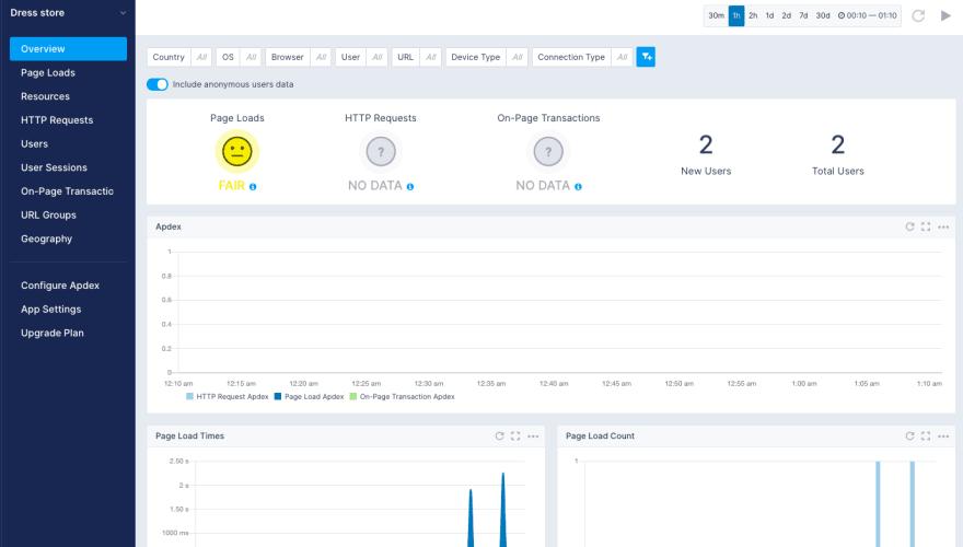 sematext-real-user-monitoring-react-app