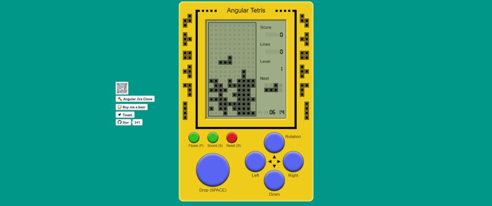 Cover image for A childhood memory Tetris game built with Angular 10 and Akita