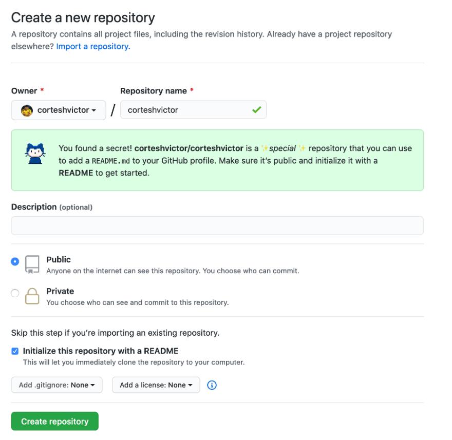 Crear nuevo repositorio con tu usuario