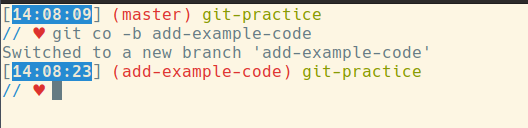 git co -b add-example-code