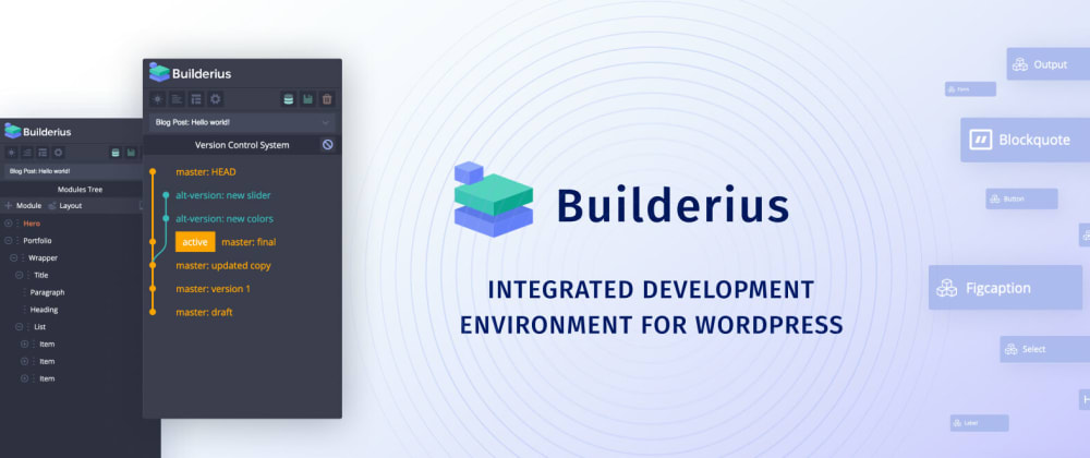 Cover image for Release of Builderius 0.9.5!